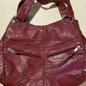 Vegan leather bag triple compartment NWT